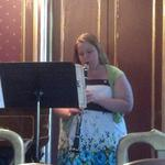 Performing Rhapsody by Willson Osborne at a Sigma Alpha Iota Musicale